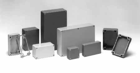 Light Gray BUD Industries MB-1390-DG ABS NEMA External Mounting Brackets